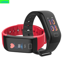 F1 Color Screen Smart Watch With Heart Rate Blood Pressure Monitor Fitness Tracker IP67 Smartwatch Connect Iphone Android Phones