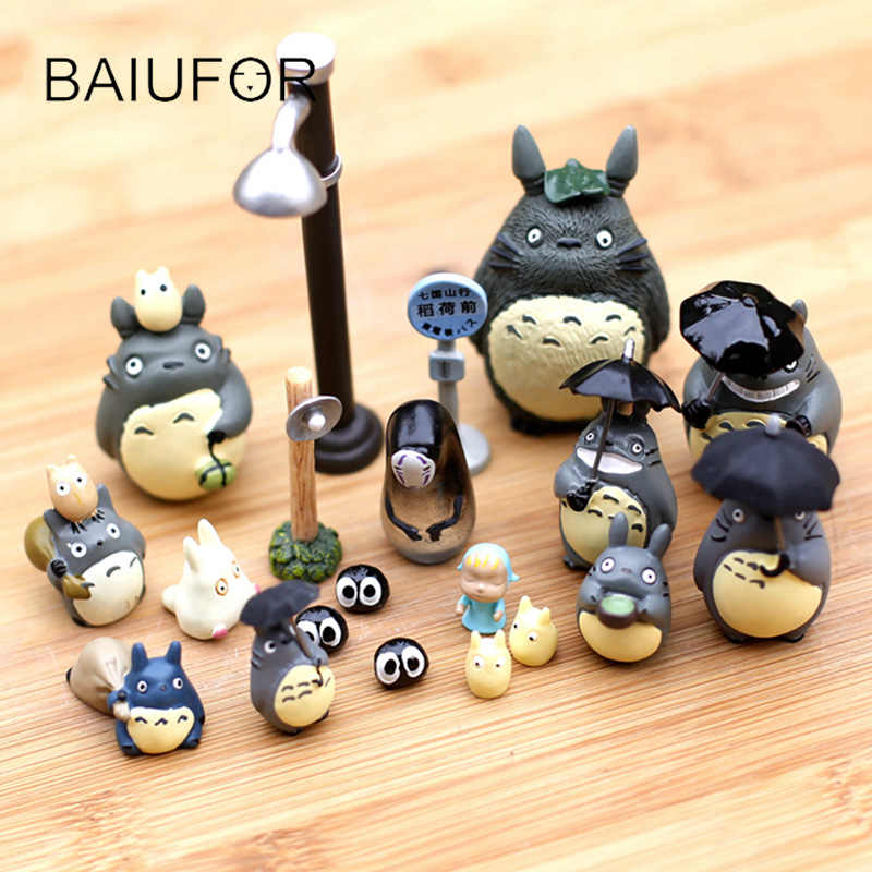 BAIUFOR 35 styles My Neighbor Totoro Miniatures for Mini Garden Fairy Garden Decoration Resin Figure Crafts DIY Micro Landscape