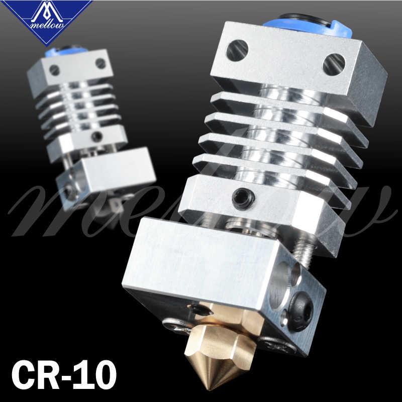 Actualización suave CR10 Kit de extrusora de extremo caliente de Metal Flexible de titanio para CR-10 Creality CR-10S impresora Micro Swiss 3D