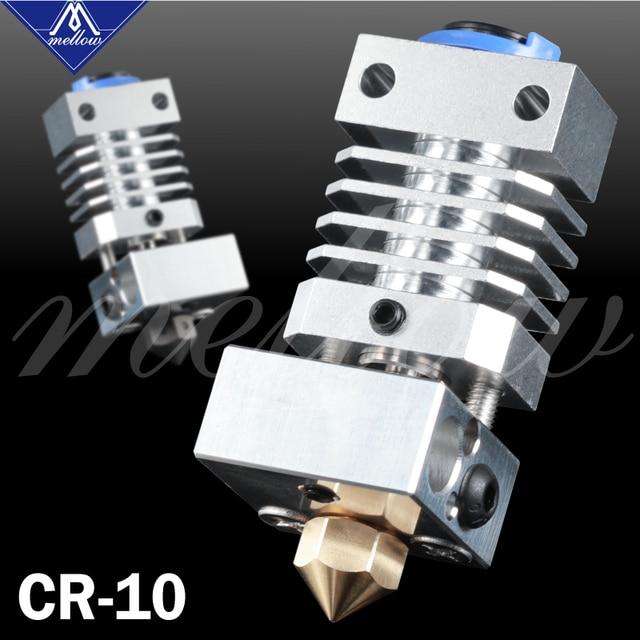 Mellow Upgrade CR10 All Metal Hotend Extruder Kit Flexible Titanium Heat Break For Creality CR 10 CR 10S Micro Swiss 3D Printer