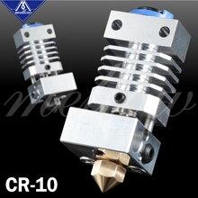 Mellow atualização cr10 todo o metal hotend extrusora kit flexível titânio quebra de calor para creality CR 10 CR 10S micro suíço impressora 3d