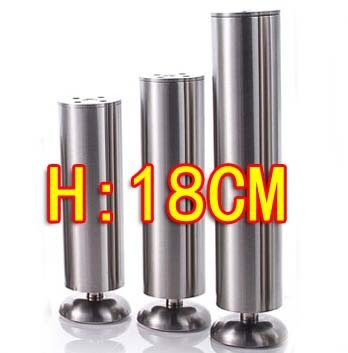2PCS Freeshipping Stainless steel cabinet coffee KTV table foot legs-- Diameter:50mm H:180MM(Adjustable H:16mm)
