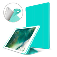 Auto Wake Sleep Translucent Magnetic Case For Apple IPad 2 IPad 3 Ipad 4 Flexible Rubberized