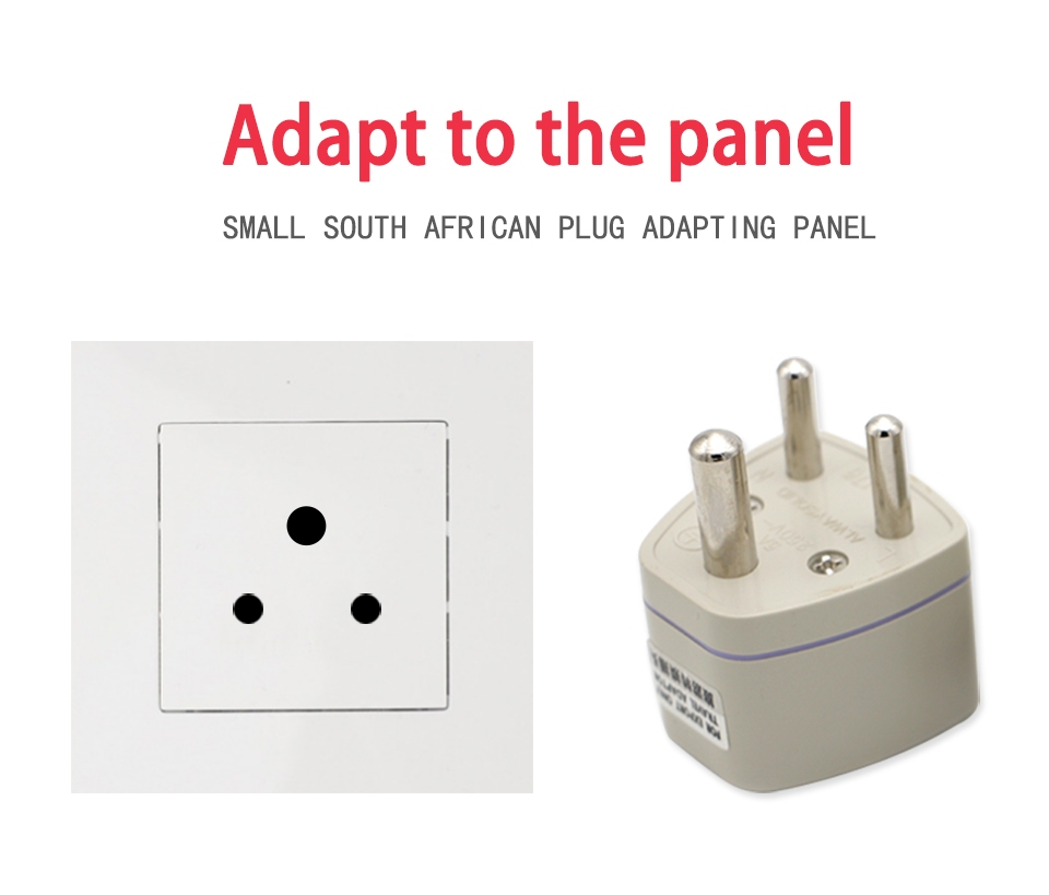 Universal UKUSEUAU to Small South Africa Plug AC Power Multi Outlet Adapter 3 pin Travel Converter Socket India travel (2)