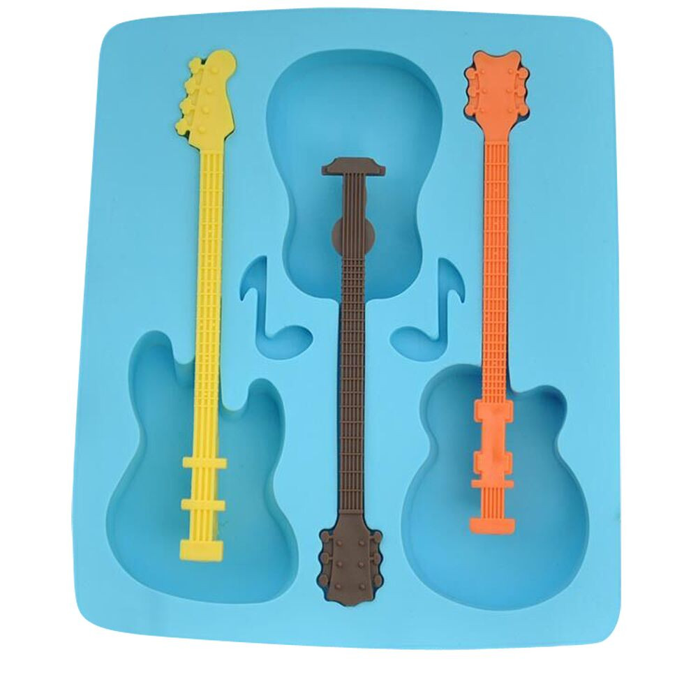 Guitar Shape Silicone Ice Mold Ice Cube Tray Mould Chocolate Molds Baking Tool S