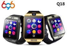 696 Q18 Bluetooth montre intelligente hommes femmes SmartWatch avec caméra Whatsapp Twitter synchronisation SMS soutien SIM TF carte pour IOS Android(China)