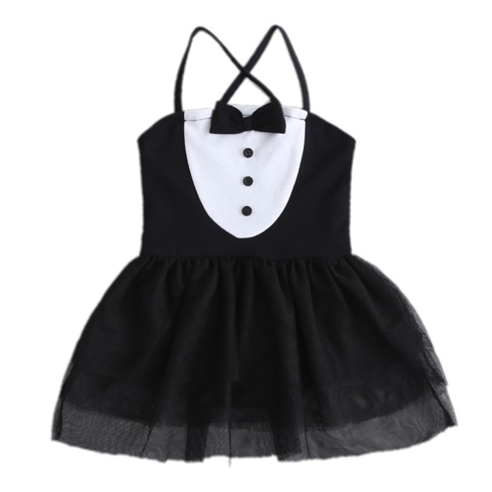 Infant Toddler Newborn Baby Girls Tulle Rock Bow Tie Dress Romper Dress Playsuit Short Sleeve Sunsuit Outfits Set