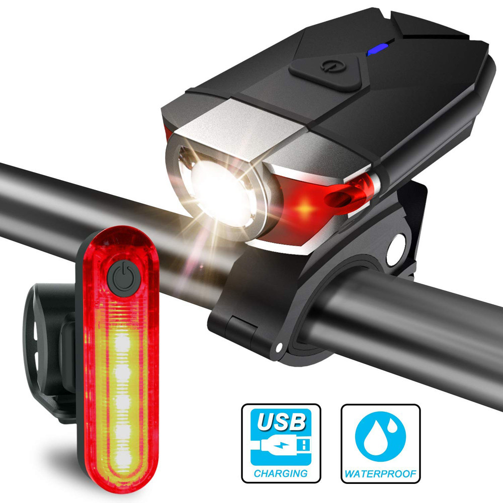 USB Recharging Taillight Bicycle Waterproof  Cycling  MTB Bike Back Lamp 5 Mode