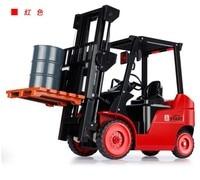 1:8 RC Forklift Truck Crane RTR 11CH Engineer Vehicle Toys LED Light Kids big size Toys