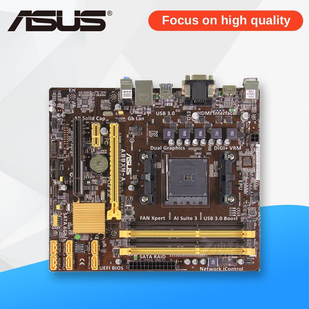 все цены на Asus A88XM-A Desktop Motherboard A88X Socket FM2 DDR3 64G SATA3 USB3.0 Micro ATX онлайн