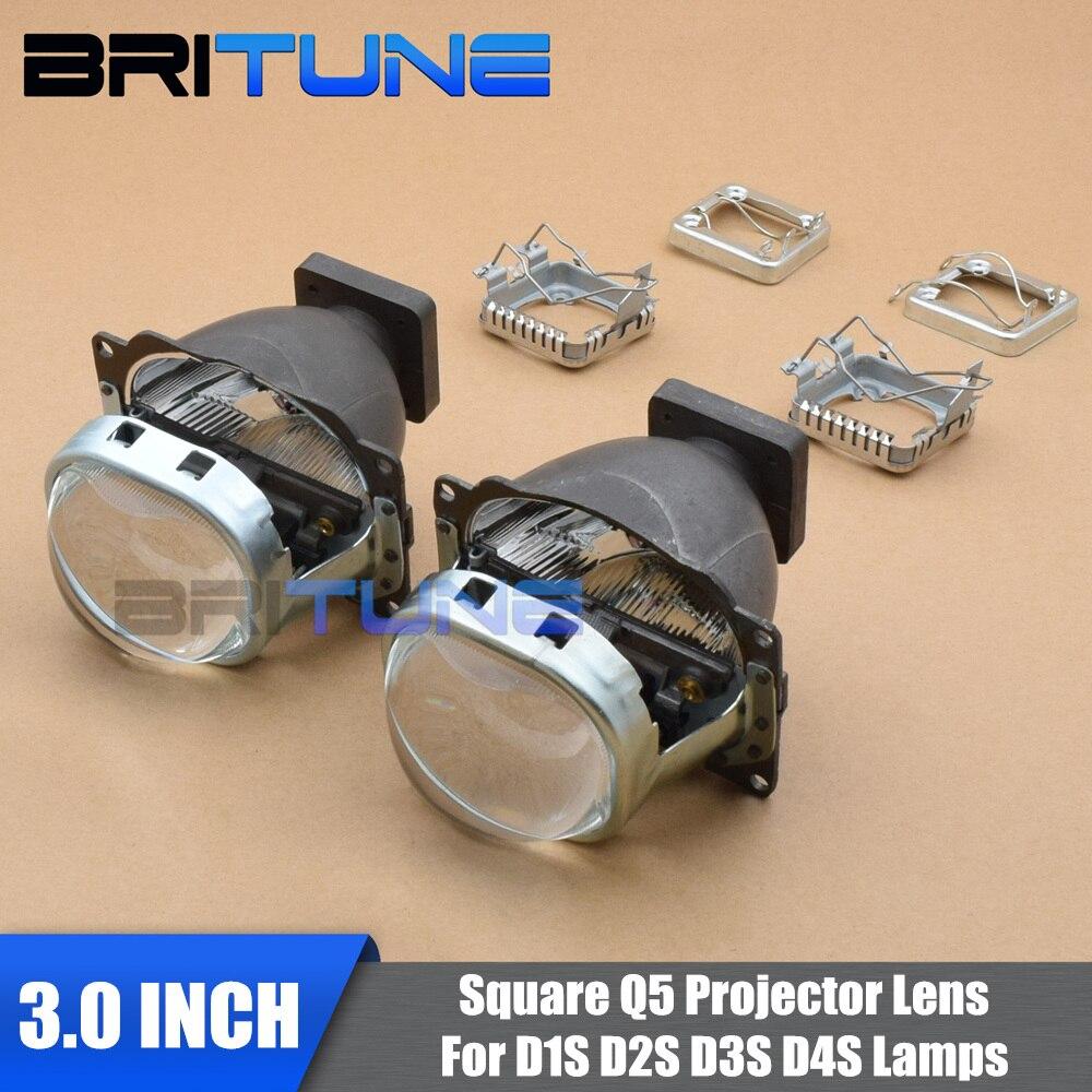 3,0 площадь Q5 Биксеноновая объектив проектора W/WO квадратный кожухи для Автомобили фара модернизации Применение d1S D2S D3S D4S HID лампы ...