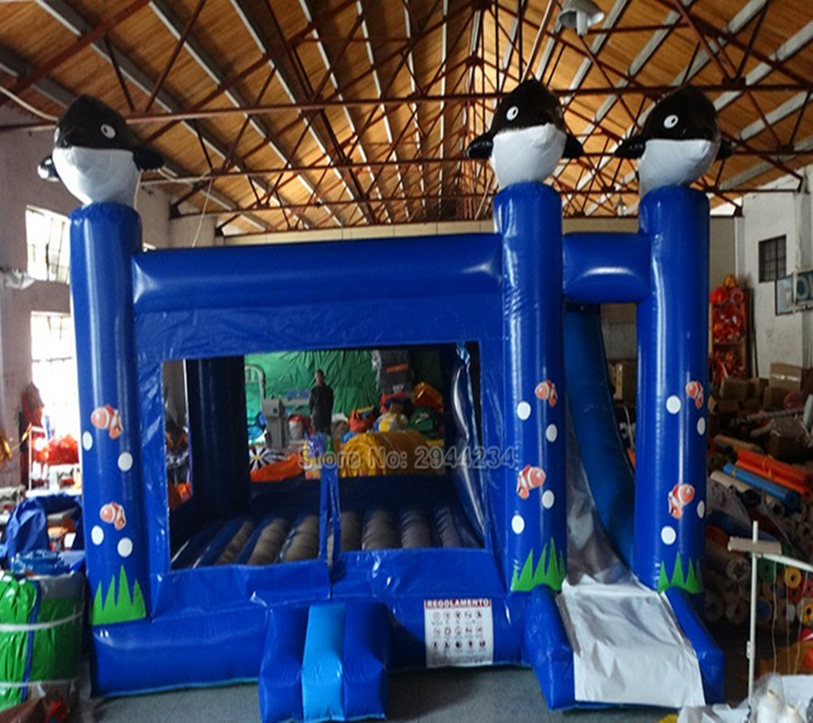 Fantastic Underwater World Theme inflatable bounce house,jumping area outdoorFantastic Underwater World Theme inflatable bounce house,jumping area outdoor