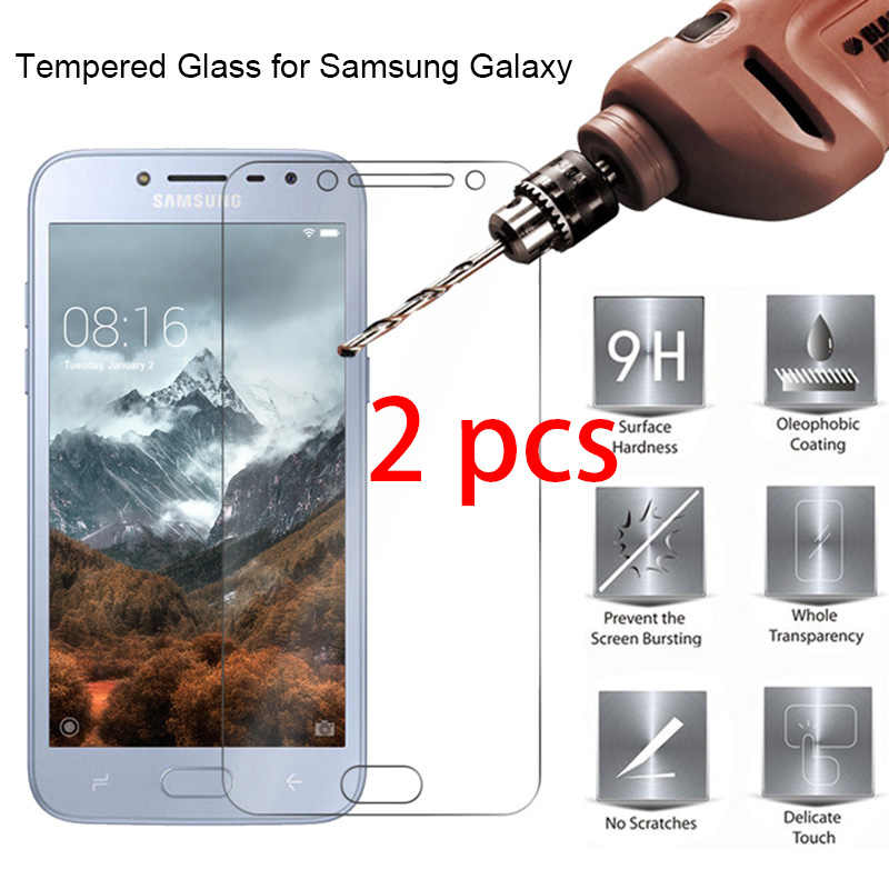 2pcs! Tempered Glass Protective Glass for Samsung J8 J7 J6 J4 Plus J3 9H HD Toughed Screen Protector on Galaxy Note 7 5 4 3 2