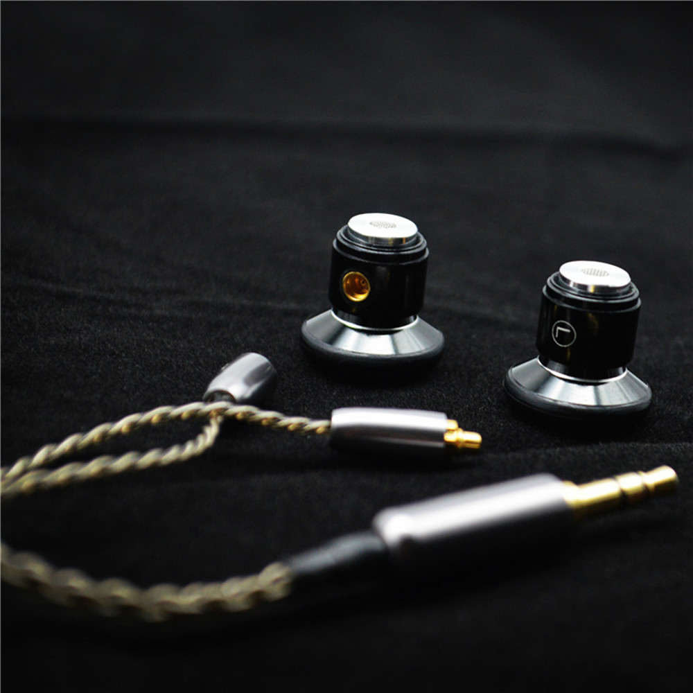 цена 100% Newest FENGRU DIY Flat head Metal earphone DIY Dynamic Drive Unit earphone HiFi earpiece with MMCX Interface