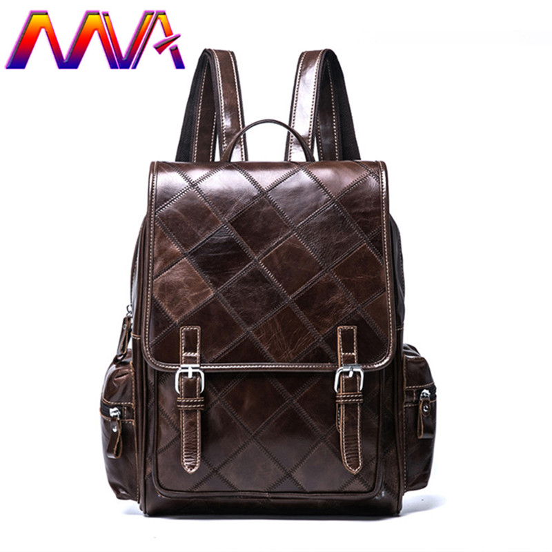 MVA fashion women backpack with 100% genuine leather students backpack of casual women backpack men leather backpacks mva cheap genuine leather men backpack with cow leather women backpack for fashion lady leather backpack travelling backpacks