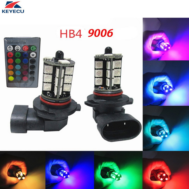 Fornito Keyecu 2 Pezzi 9005 12 V 5050-smd Multi-color Rgb Led Lampadine Del Rimontaggio Per I Fari O Driving Luci Con Telecomando Ultima Tecnologia