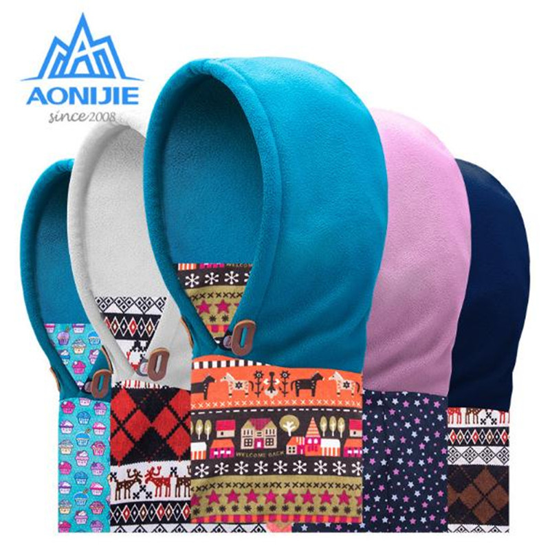Art Glass Outdoor Sports Hat Aonijie E813 Polar Fleece Childrens Balaclava Hat Ski Bike Windproof Face Mask Caps Winter Kids Scarf Removing Obstruction