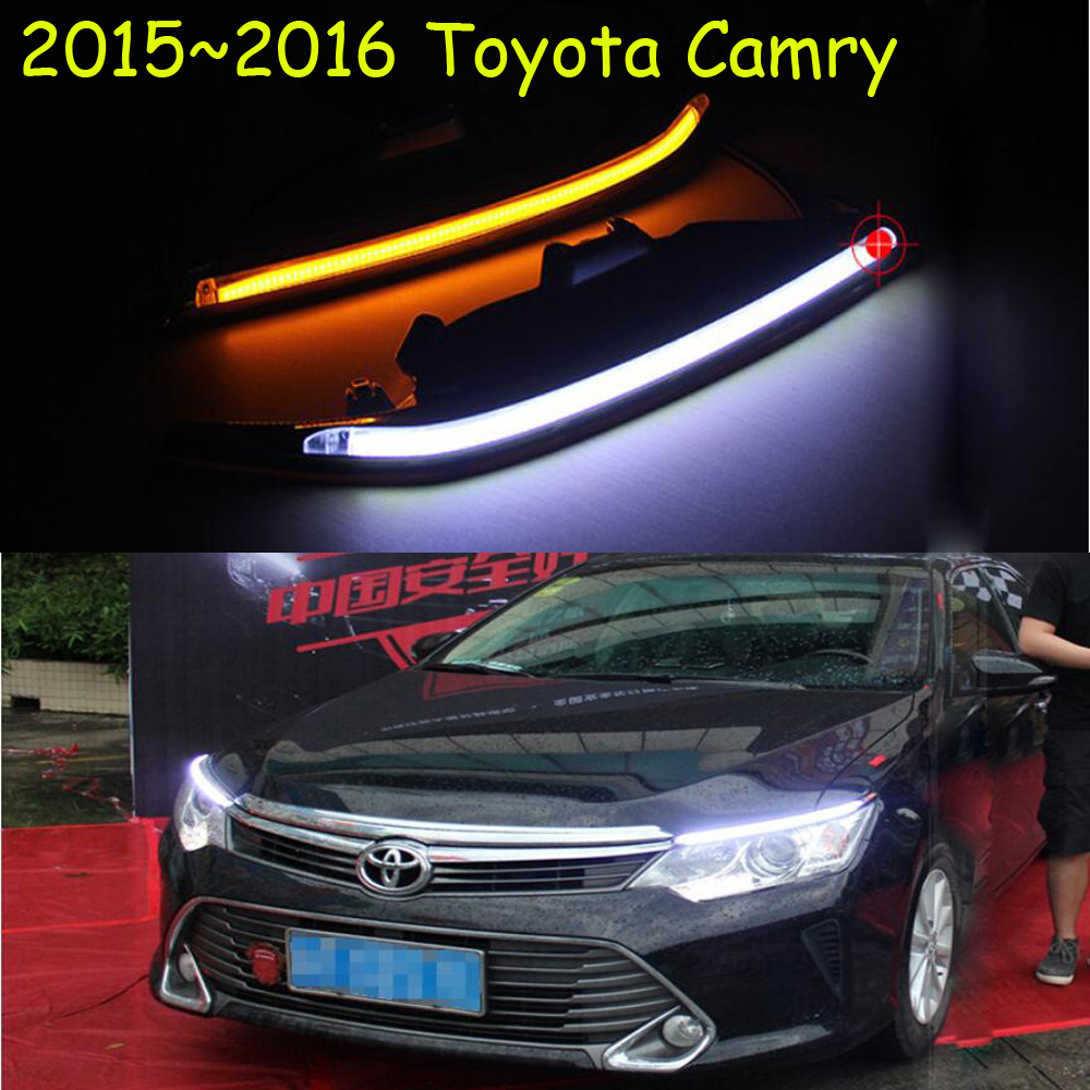 car-styling,2015~2017 Camry daytime light,led,2pcs/set,Camry fog light;car-covers,chrome, Camry car styling camry
