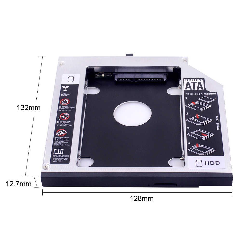 CHIPAL אלומיניום SATA iii 2nd HDD Caddy 12.7mm עבור 2.5 אינץ SSD מקרה HDD מארז עבור Lenovo ThinkPad T420 t430 T520 T530 מוזר