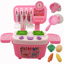 1 pcs kitchen home toys children interactive cooking and simulation kitchenware tableware boys girls set