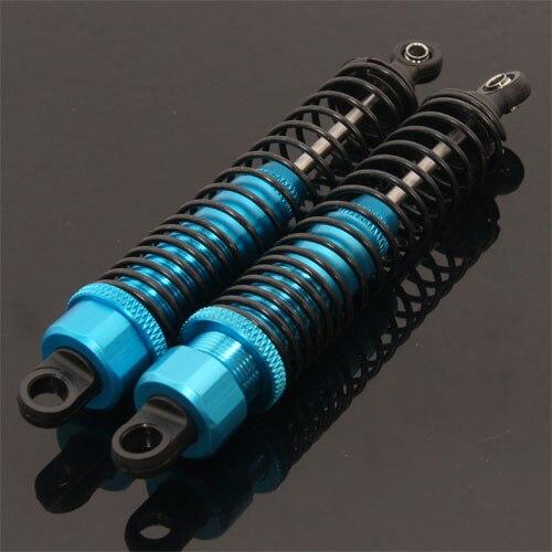 2pcs HSP 108004 0804 1:10 RC 4WD Titanium Aluminum Shock Absorber Upgrade 1/10 Rc Car Parts Dual Colors hsp 108004 aluminum alloy shock absorber for 1 10 r c car black blue 2 pcs