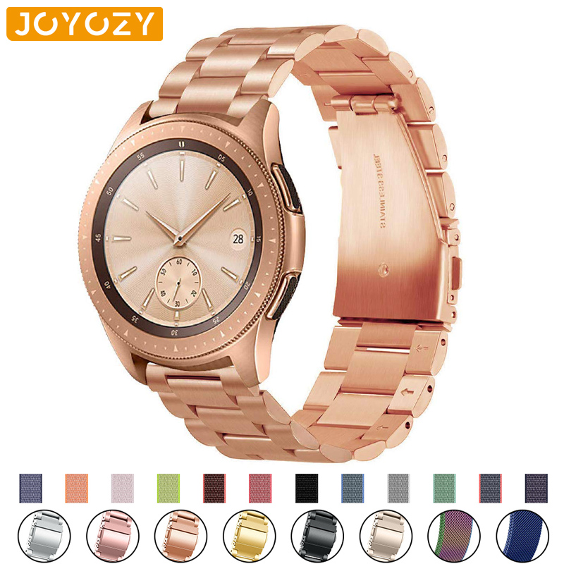 22mm/20mm Stainless Steel Strap For Samsung Galaxy Active Watch 46mm S3/S2 Frontier/Classic Huami Amazfit Huawei Watch Gt Strap
