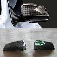 High quality For BMW 5 6 7 Series F07 F06 F12 F13 F01 100% Real Carbon Fiber Rear View Mirror Cover Side Mirror Caps car styling