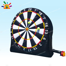 Newest 4mH PVC Tarpaulin Inflatable Foot Darts for Sale, Soccer Darts, Football Darts Game,Big Balls and Air Blower Included best price of football dart game inflatable soccer darts game on sale
