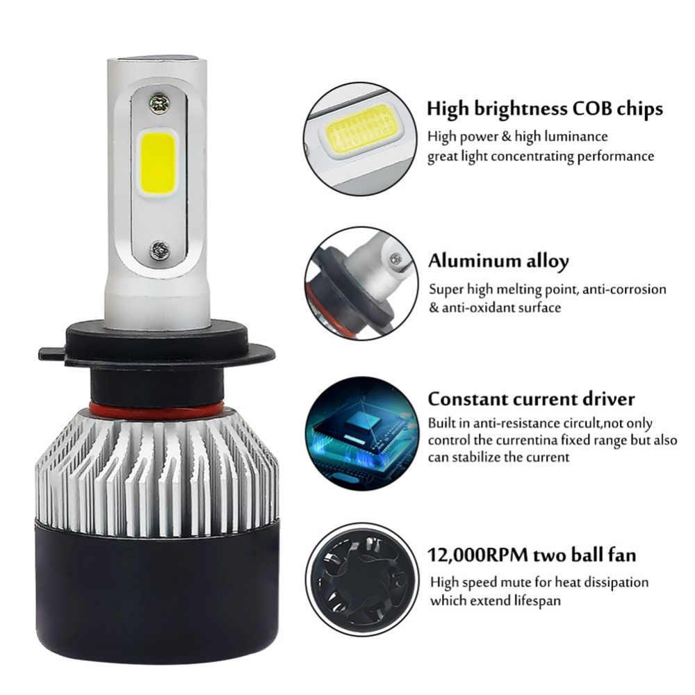 2 יחידות H7 Led H4 H1 H3 H11 H8 H9 9005 HB3 9006 HB4 רכב פנס אוטומטי קדמי ערפל אור הנורה רכב מנורת 72 w 8000lm 6500 k