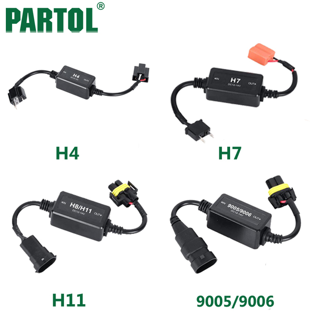 Partol H4 H7 H11 H13 9005 9006 Cable Adapter Canbus Wiring Harness Adapters Car LED Headlight_640x640 partol h4 h7 h11 h13 9005 9006 cable adapter canbus wiring harness can bus wiring harness at gsmportal.co