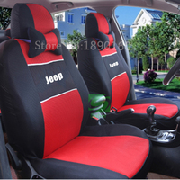 Universal Car Seat Cover Embroidery Logo Car Seat Cover For Jeep Wrangler Patriot Compass Cherokee Seat
