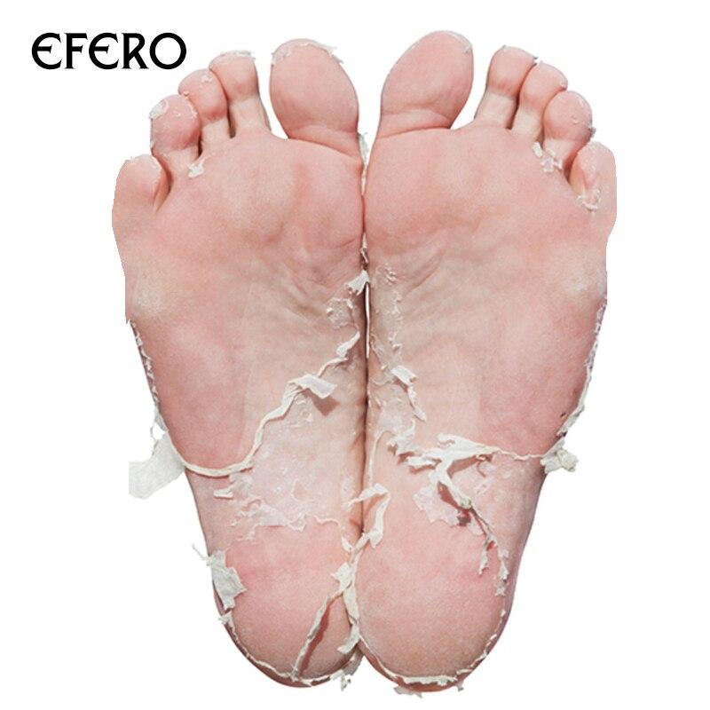 4pc=2pair Exfoliating Foot Mask Pedicure Socks for Feet Peeling Mask Remove Dead Skin Heels Rose Foot Peel Mask for Legs efero 4