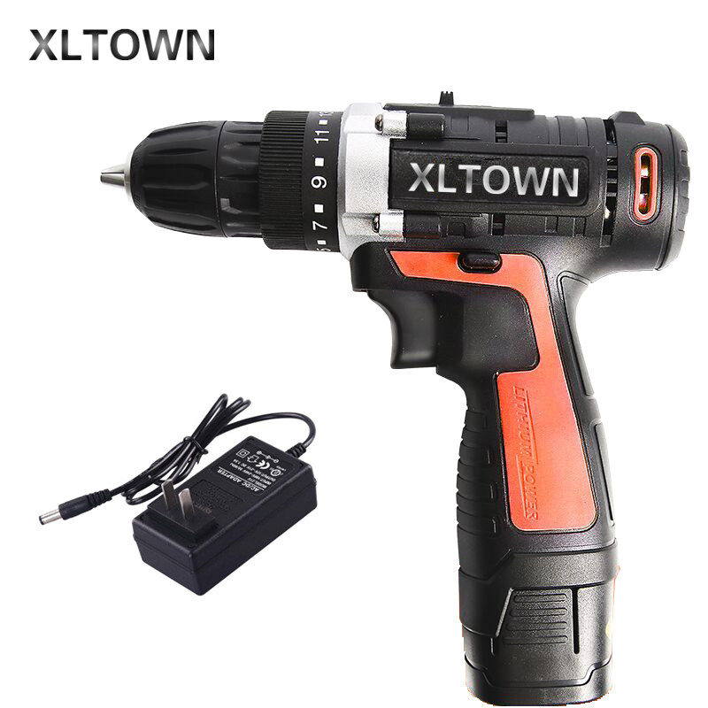 цена на XLTOWN 16.8V cordless electric drill lithium battery rechargeable multi-function electric screwdriver household power tools