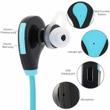 Sport Headphones Running Earphone Stereo Earbuds Wireless Bluetooth Headset Voice Control Handsfree with Mic for Xiaomi Iphone 6
