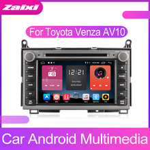 ZaiXi Android Car Multimedia player 2 Din WIFI GPS Navigation Autoradio For Toyota Venza AV10 2008~2017 Radio FM Maps BT
