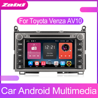 ZaiXi Android Car Multimedia player 2 Din WIFI GPS Navigation Autoradio For Toyota Venza AV10 2008~2017 GPS Radio FM Maps BT
