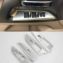 Car Accessories Interior Decoration LHD ABS Armrest Window Lift Down Rises Cover Trims For Toyota Land Cruiser 2016 Car Styling car accessories interior decoration abs head lamp adjustment buttons cover trims for toyota land cruiser 2016 car styling