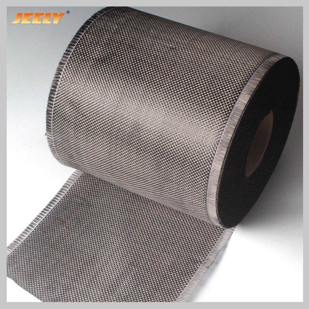 0.2m de fibra de carbono larga 3 k 200g/m2 fio de carbono tecido interlayer reforço pano