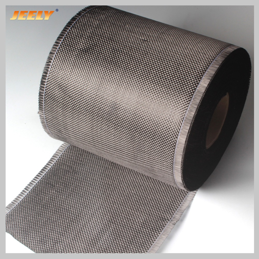 0.2m Wide  Carbon Fiber 3K 200g/m2 Carbon Yarn Woven Interlayer Reinforcement Cloth