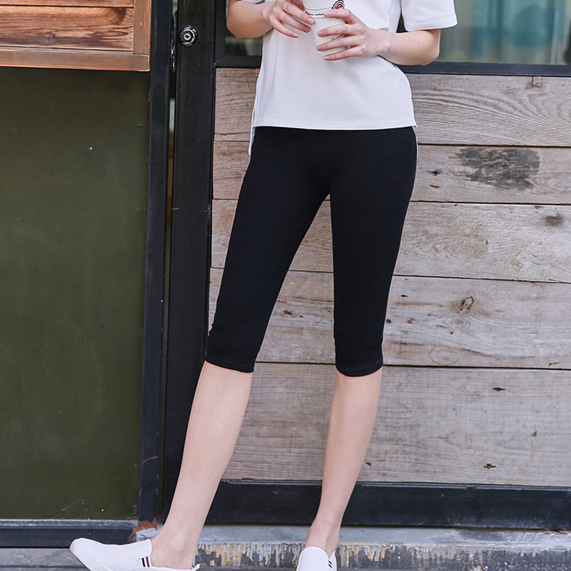 Short Leggings Women Summer High Waist Fitness Leggings Cortos Mujer Women Modal Leggings Court Femme Coton