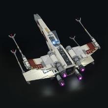 Светодиодный светильник, совместимый со строительными блоками 10240 X с крыльями, красными пять бойцов (не входит в комплект)