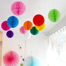 Yüksek Kalite 10 Adet / grup Için 6 '' (15 cm) Doku Kağıt Fener Petek Topu Ev Bahçe Düğün & Çocuk Doğum Günü Partisi Süslemeleri