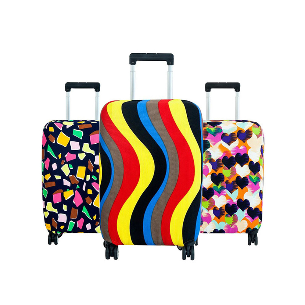 Luggage Protective Cover Elastic Fabric Dustproof Suitcase Cover For 18 To 30 Inches Trolley Protector Travel Accessories Z38