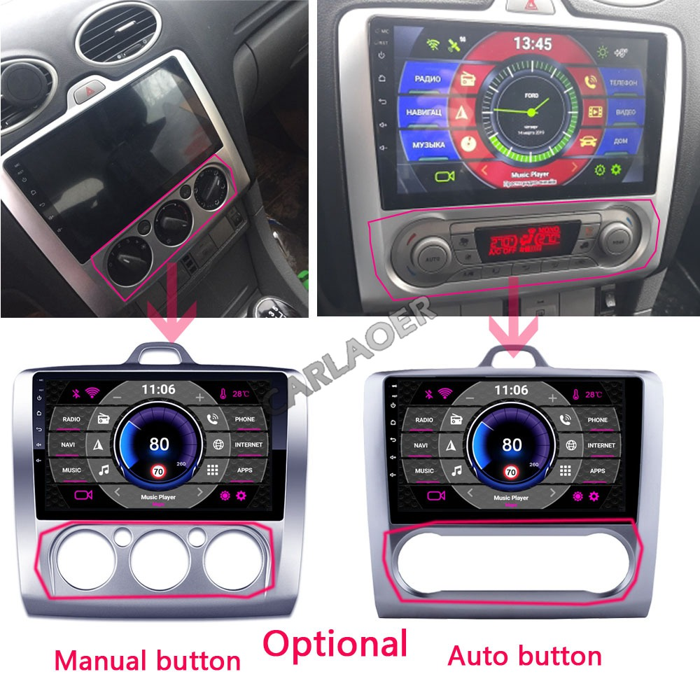 Image 2 - 2 DIN 9 Inch Android 8.1 GPS Navigation Touchscreen Quad core Car Radio For Ford Focus Exi AT2004 2005 2006 2007 2008 2009 2011-in Car Multimedia Player from Automobiles & Motorcycles