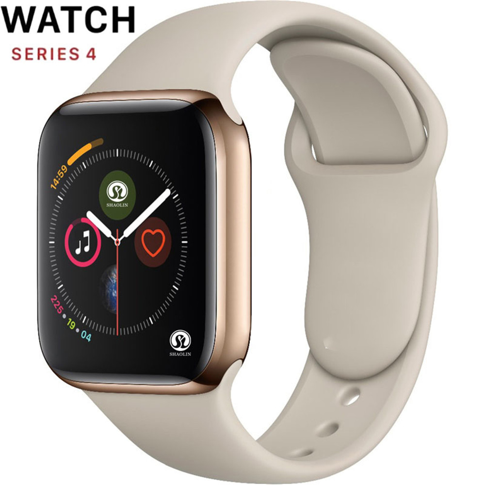 42mm Smart Watch Series 4 Clock Push Message Bluetooth Connectivity Clone For Android Phone IOS Apple Iphone 6 7 8 X Smartwatch
