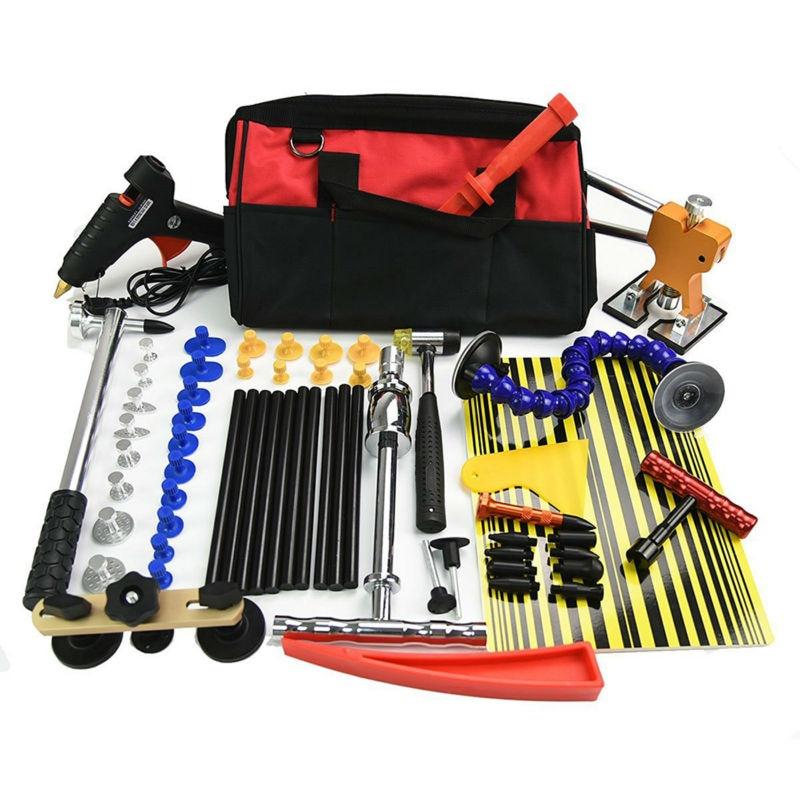 Furuix 60pcs Paintless Dent Repair Pdr Dent Puller Kit Slide Hammer Kits Hail Repair Kit Medium Dent Repair PDR Glue Puller Kit pdr hail repair kit with 1 4kg pdr slide hammer hail glue puller pdr 206
