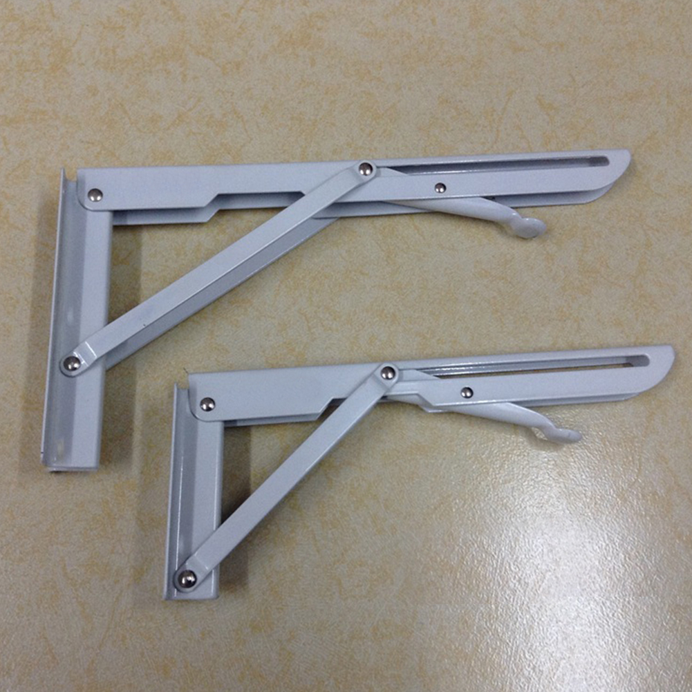 2Pcs Triangular Folding Bracket Steel Release Catch Support  Table Folding Wall Mounted Durable Bearing Shelf Bracket2Pcs Triangular Folding Bracket Steel Release Catch Support  Table Folding Wall Mounted Durable Bearing Shelf Bracket