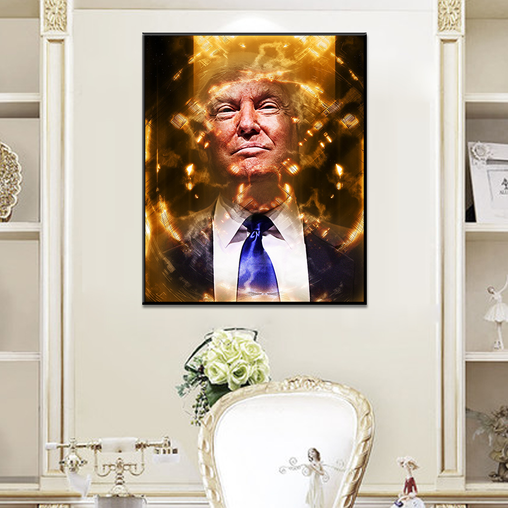 Unframed Art Canvas Painting President Donald Trump Graffiti Poster Prints Wall Pictures For Living Room Wall Art Decoration