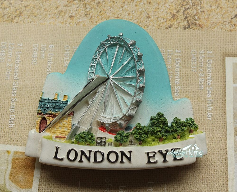 United Kingdom UK London Eye Tourist Travel Souvenir 3D Resin Fridge Magnet Craft