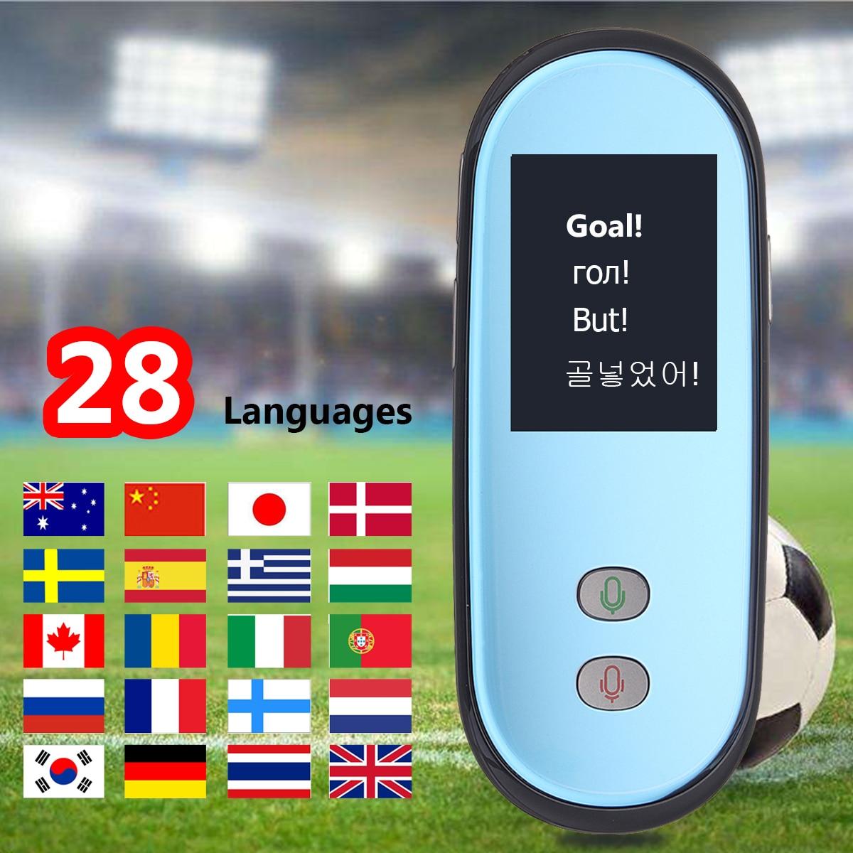 2,4 Bildschirm Tragbare Instant Echt-zeit Wifi Übersetzer Stimme 28 Multi Sprachen Traductor Für Reise Business Lernen Russische Ausgereifte Technologien